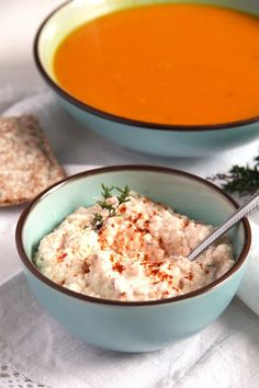 hungarian bread spread 2 Hungarian Dip or Spread with Feta, Paprika and Caraway Seeds