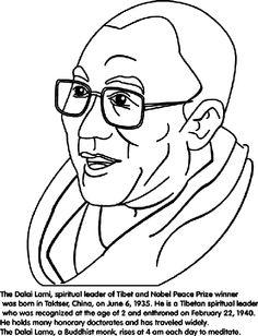 dalai lama coloring page