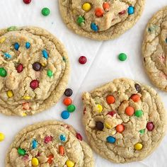 M&M Cookies are thick, chewy, soft-baked, and loaded with miniature m&m's. There are a couple tricks that make these the best m&m cookies. Best M&m Cookie Recipe, Cookie Recipes, Dessert Recipes, Recipe Box, Dessert Ideas, Delicious Desserts, Brownies, Monster Cookie Bars, M M Cookies