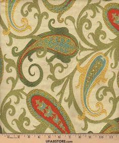 GRES-Gold - Paisley - Fabric