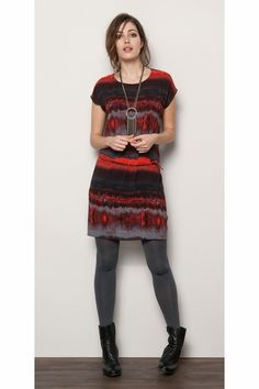 #tunic #tights #ankleboot