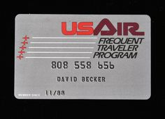 US AIR Frequent Traveler Program Membership Card