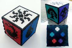 Magic the Gathering Perler Bead Box by nostalgicwonderland