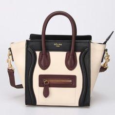 SAC CLINE LUGGAGE NANO ICE BLANC / NOIR / BORDEAUX 1.Marque : celine 2.Style : celine Luggage Nano 3.couleurs : Ice blanc / noir / bordeaux 4.Matériel : Importer en cuir d'origine 5.Taille: W20 x H10 x D20 cm