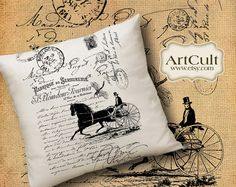 SHABBY FRENCH COTTAGE No3 - Two Digital Sheets Printable Images to print on fabric / paper, Iron On Transfer for tote bags t-shirts pillows  by ArtCult