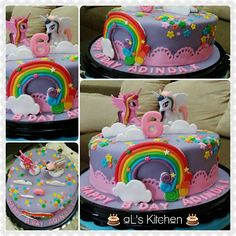Little Pony Cake Purple Little Pony Cake, Sweet Cakes, Fondant, Amanda, Birthday Cake, Purple, Party, Desserts, Food