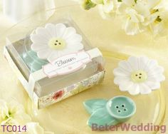 "16pcs, 8set  Wedding Souvenir ""Blossom"" Salt and Pepper Shakers TC014 use as Wedding Gift, birthday Favor on AliExpress.com. $16.00"