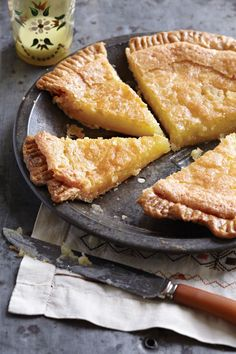 A classic chess pie recipe, with flaky crust and traditional filling of eggs, butter, cornmeal and vinegar, as only a Southerner knows how to make it.
