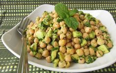 Avocado Lime Chickpea Salad | Once Upon a Cutting Board