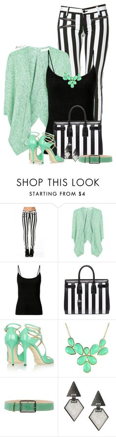 """Mint Sprinkles"" by tayswift-1d ❤ liked on Polyvore featuring Fenn Wright Manson, Yves Saint Laurent, Jimmy Choo, Entrà and Oasis"