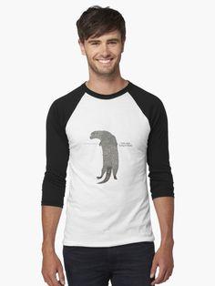 'Yurty says hang there' T-Shirt by Caroline Brennan T Shirt Baseball, Cotton Tote Bags, Tshirt Colors, Heather Grey, Tank Man, Classic T Shirts, Shirt Designs, Slim, Otter