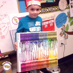 TLE Wayne, NJ celebrates their 100th day of school with this colorful art project!