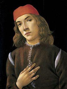 Sandro Botticelli, Portrait of a Young Man, c.1482-1485, Tempera on panel, 43.5 x 46.2 cm, National Gallery of Art, Washington