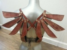 Steampunk Leather Costume Fairy Wings von JAFantasyArt auf Etsy