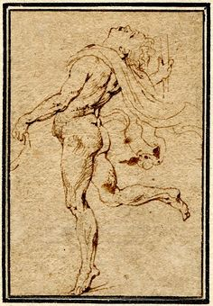 Recto A dancing satyr, after the Antique; to l, his head tilted back, drapery flowing behind Pen and brown ink © The Trustees of the British Museum Anatomy Sketches, Drawing Sketches, Art Drawings, Human Figure Drawing, Life Drawing, Water Drawing, Indian Art Paintings, Peter Paul Rubens, Learn Art