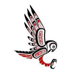 gufo tatuaggio totem nativi americani