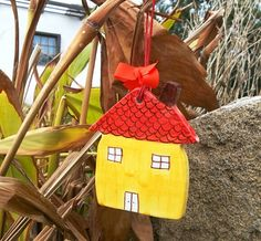 Ceramic little house by IoannasVeryCHic on Etsy, $15.00