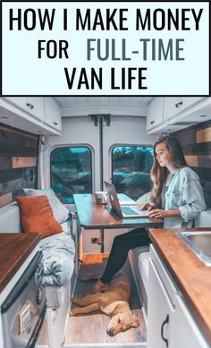 How I earn money while living on the road full time! : How I earn money while living on the road full time! Bus Life, Camper Life, Assurance Habitation, Kombi Home, Vanz, Camper Van Conversion Diy, Sprinter Conversion, Living On The Road, Van Living