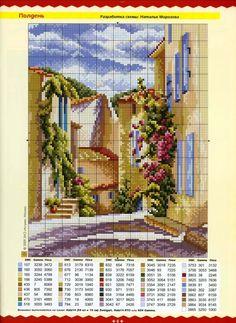 Uploaded on gallery ru. Funny Cross Stitch Patterns, Cross Stitch Charts, Cross Stitch Designs, Cross Stitching, Cross Stitch Embroidery, Hand Embroidery, Cross Stitch Landscape, Cross Stitch House, Cross Stitch Flowers