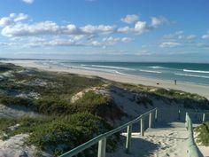 Boardwalk to the beach at Struisbaai South Africa.