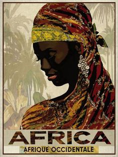 Vintage Travel Africa Giclee Print by The Portmanteau Collection at AllPosters.com