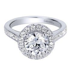 Exquisite indeed! Gabriel 14 Karat White Gold Contemporary Diamond Engagement Ring ER9397W44JJ ~$2,400