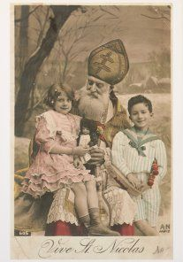 very old st. nick card