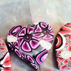 Purple clay heart, By Emilia Sofia