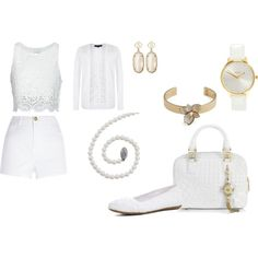 """""""White on White Fashion Contest"""" by janet-palaggi on Polyvore"""