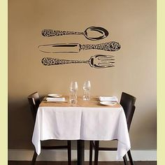 Cutting Edge Stencils - Bon Appetit! Large Wall Stencil
