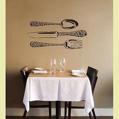 Cutting Edge Stencils - Bon Appetit! Large Wall Stencil