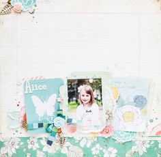#papercraft #scrapbook #layout  Alice by all-that-scrapbooking at @Studio_Calico