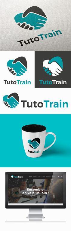 Identité visuelle de l'Association TUTO TRAIN par Sofia Doudine Graphiste & Webdesigner B2B Freelance www.sofiadoudine.com