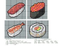 Because every cross stitcher needs a sushi pattern.