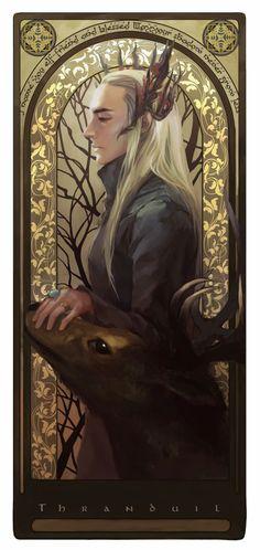 10 Amazing Hobbit-Themed Fan Art Creations: Thranduil and His Elk