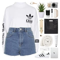 """""""you got me smoking cigarettes"""" by lost-in-your-orbit ❤ liked on Polyvore featuring adidas, adidas Originals, Topshop, NARS Cosmetics, HAY, ROOM COPENHAGEN, Lux-Art Silks, 3.1 Phillip Lim, Maison Margiela and Sector 9"""