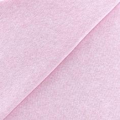 Tissu sweat chiné - rose x 10cm