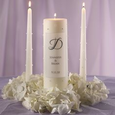 Pearl Wedding Unity Candle | #exclusivelyweddings