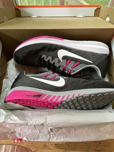 2095767c9f236 NIB NIKE AIR ZOOM STRUCTURE 20 Women Size 10 Anthracite