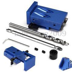 Mini-Pocket-Hole-Jig-Kit-w-Step-Drill-Bit-Kreg-Style-Woodworking-Joint-Tool-Set