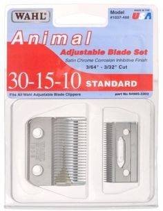Wahl 30-15-10 Blade Set For Adjustable Clippers by Wahl. $26.25. 30-15-10 Blade Set for Wahl Adjustable Clippers. Save 32% Off!
