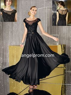 2015 Style A-line Scoop Ankle-length Chiffon Mother of the Bride Dress