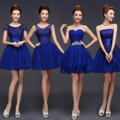 Find More Information about Royal Blue Bridesmaid Dress Cute Mini Puffy Lace Dresses Mismatched Styles Vestido De Festa De Casamento Party Dresses Modest ,High Quality dress korean,China dress fighting Suppliers, Cheap dress tapes from Princess Sally International Co.,Ltd on Aliexpress.com
