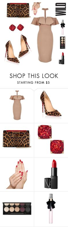 """""""Wild Mornings"""" by stylistvibes ❤ liked on Polyvore featuring Rare London, Christian Louboutin, Kate Spade, Piggy Paint, NARS Cosmetics, Witchery, Yves Saint Laurent and stylist_vibes"""