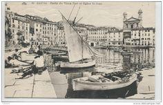 Corse: Vieux port de Bastia, petits bateaux latins