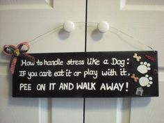 Hand painted How to Handle Stress Like  a by CarolinaSpiceDesigns,