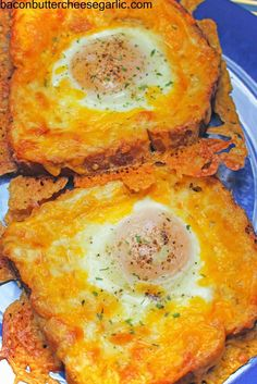 Bacon, Butter, Cheese & Garlic: Cheesy Egg Toasts