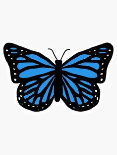 Butterfly Tattoo Cover Up, Butterfly Wallpaper, Blue Butterfly, Chiffon Tops, Dark Blue, Wallpapers, Stickers, Artist, Fun