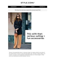 We love the editorial look of this email, created through the clean design and oversized text