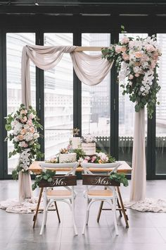 Wedding Planners Share Their Top 8 Wedding Venues in and Around Kuala Lumpur Dusty rose drapes and florals over a gorgeous wedding arch with a sumptuous dessert spread at the Rooftop Glasshouse at . Wedding Lunch, Rooftop Wedding, Chapel Wedding, Wedding Venues, Wedding Ideas, Beer Wedding, Wedding Ceremonies, Church Wedding, Trendy Wedding